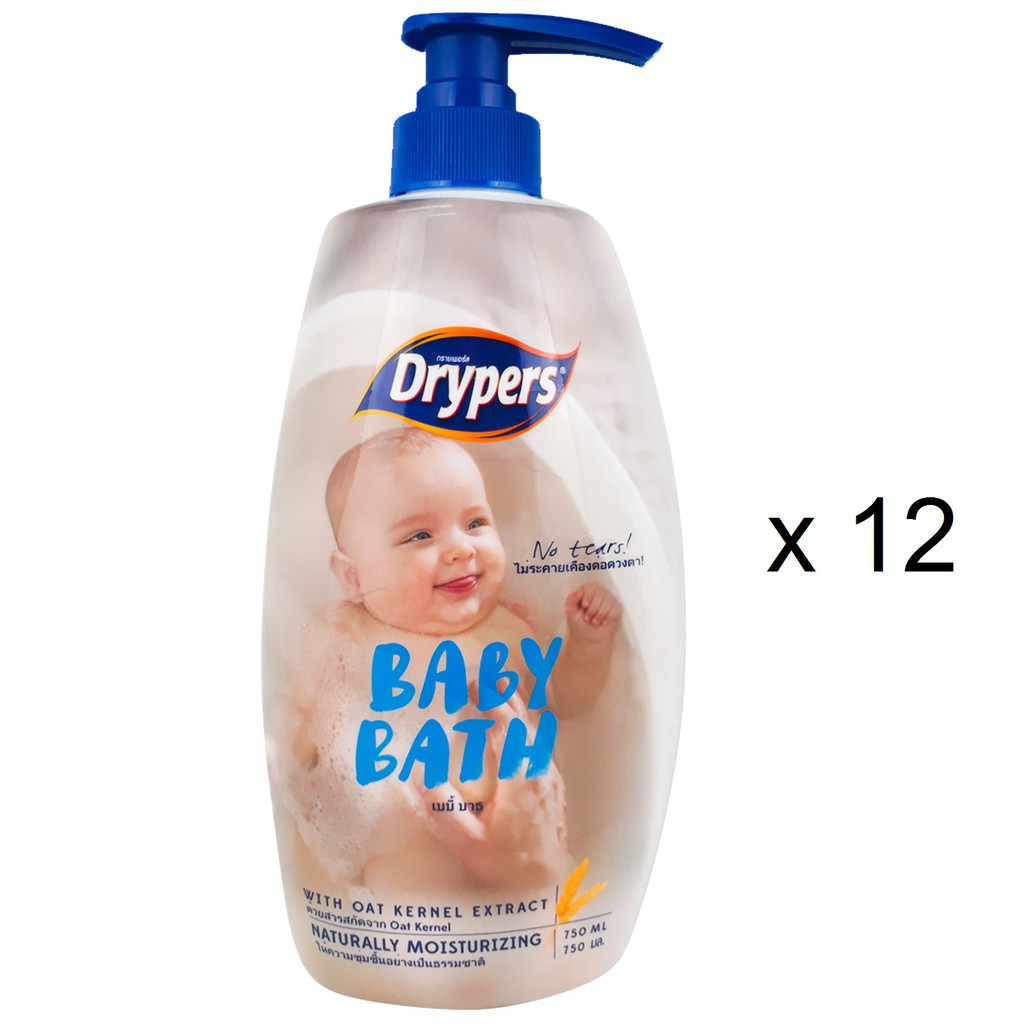 Drypers Baby Bath - Oat Kernel (12 x 750ml)