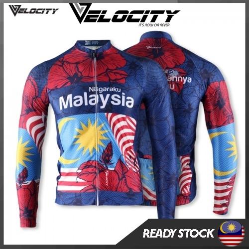 Velocity Malaysia Long Cycling Jersey Bunga Raya