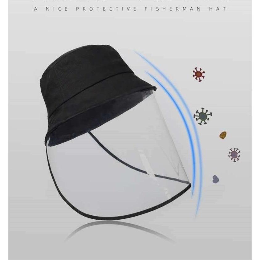 Winter hat Removable Anti-Fog Saliva Mask Anti-Spitting Protective Baseball Cap Dustproof Cover Face Covering for Bucket Hat Sun Visor Hat Beige
