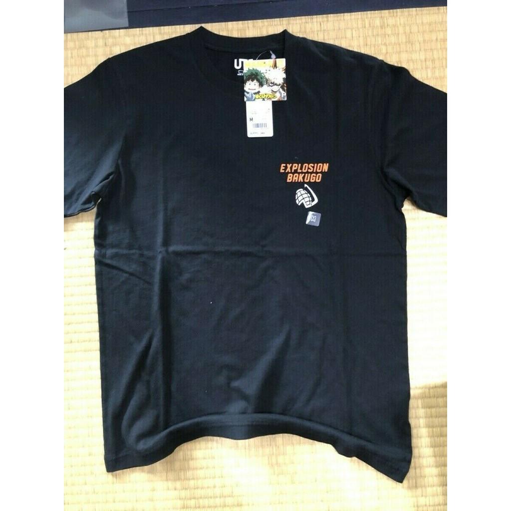Manga Ut Uniqlo My Hero Academia Bakugugou Men T Shirt Graphic