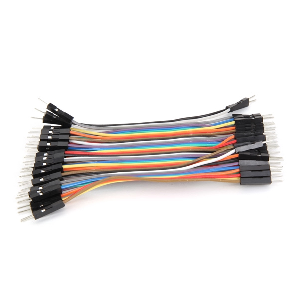 10CM Male To Female Jumper Wire Ribbon Cable  pin header 40pcs  HQ