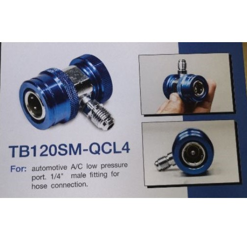 """TASCO BLACK QUICK COUPLE R134A (LOW SIDE) 1/4"""" HOSE FITTING  MODEL : TB120SM-QCL4"""