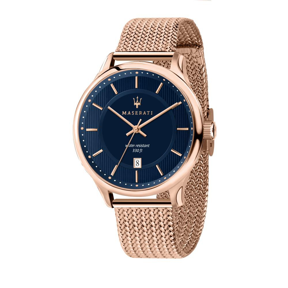Maserati Gentleman Rose Gold Steel Band Quartz Watches R8853136003