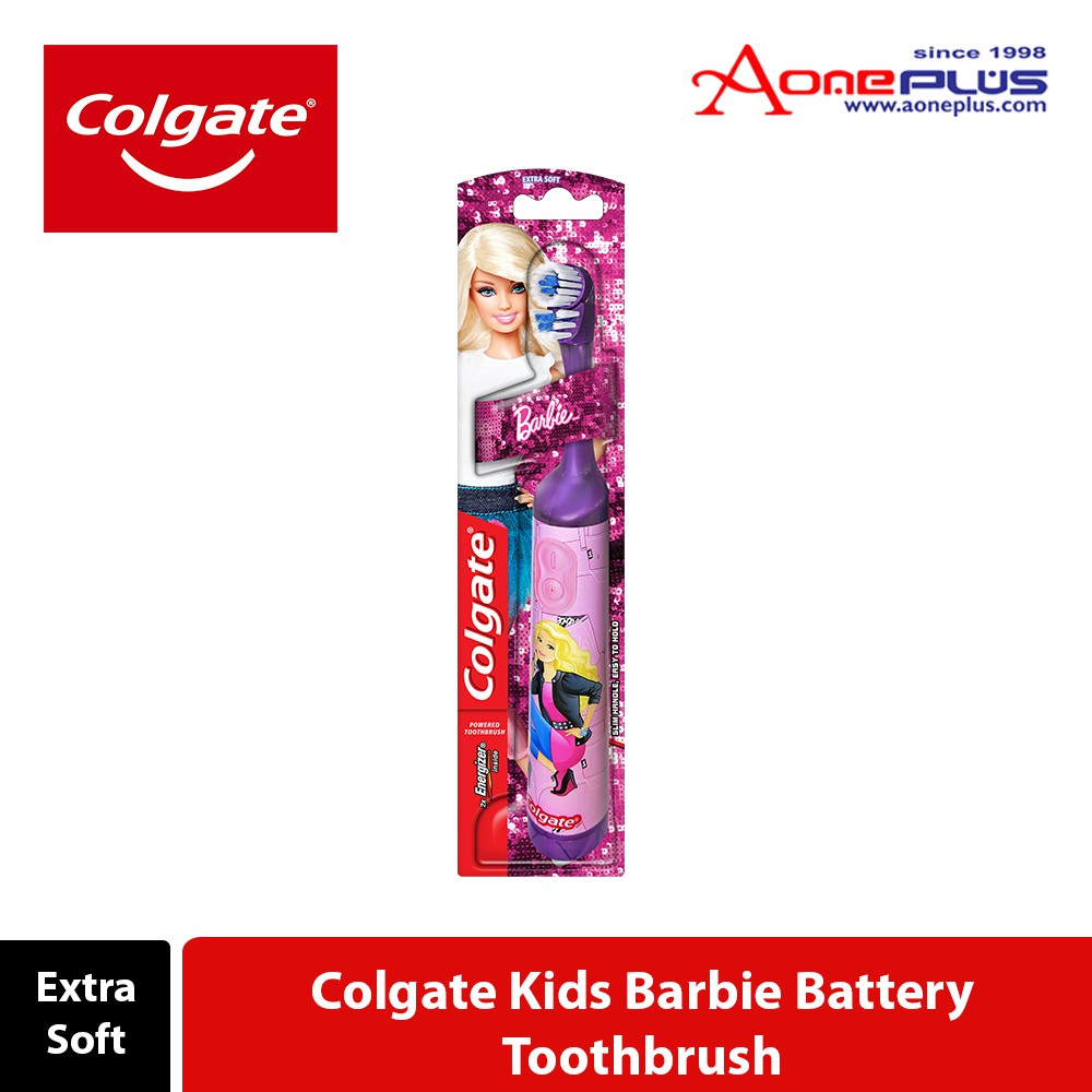 Colgate Battery Powered Barbie Kids Toothbrush Extra Soft New Batteries Included