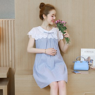 f29cfd47ac25e Maternity summer 2018 new loose cotton lace dress. In the long summer tide