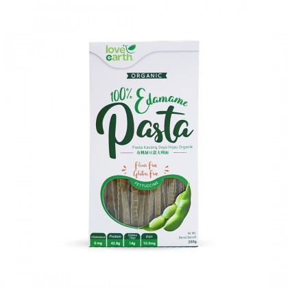 Love Earth Organic Edamame Pasta Futtuccine 200g 乐儿有机毛豆意大利宽面条 200公克