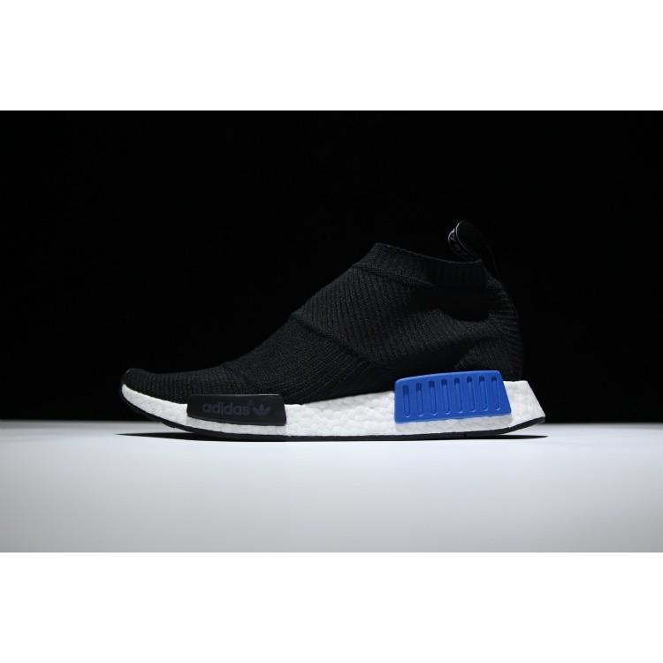 low priced d39ef 6b64e Adidas Men's NMD R1 Runner Primeknit High Boost Running Shoes Black/Blue