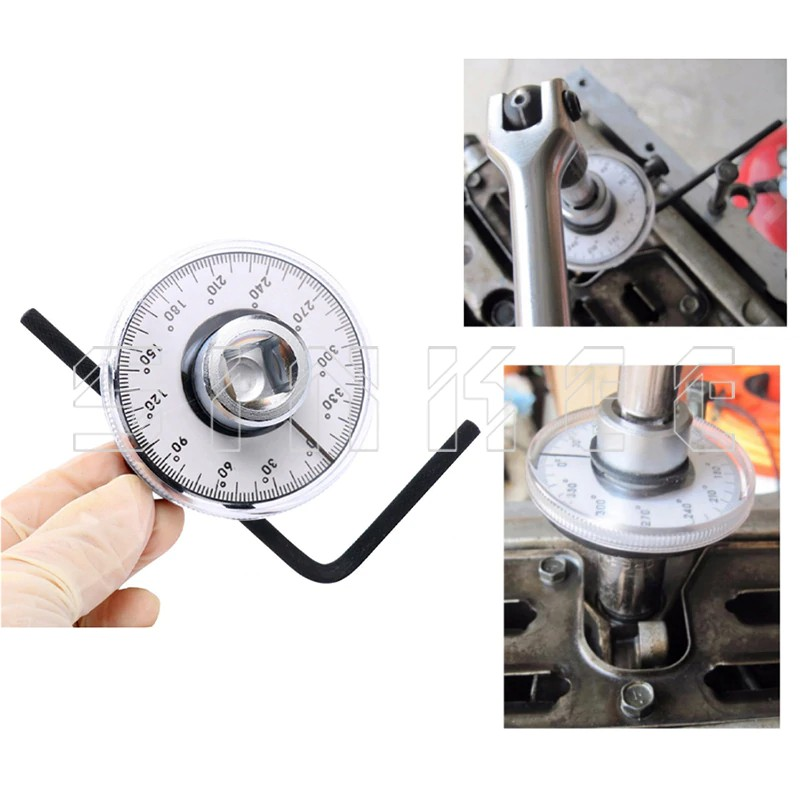 1//2 Inch Adjustable Drive Torque Angle Gauge Meter Measurer Car Auto Repair Tool