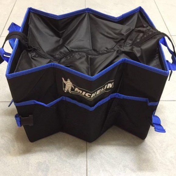 🔥✔STOCK🔥MICHELIN🔥CAR BOOT FOLDABLE ORGANISER STORAGE BLACK BLUE FOLDING TRUNK ORGANIZER WITH ZIP