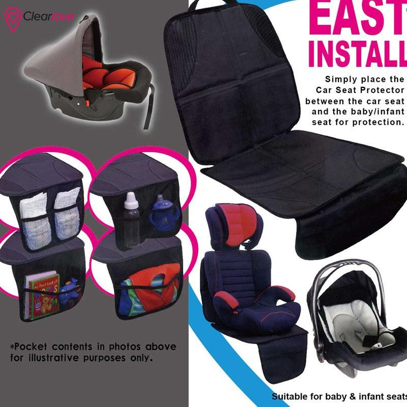 CLE Baby Kids Children Car Booster Seat Protector Easy Clean Safety Non-Slip Mat