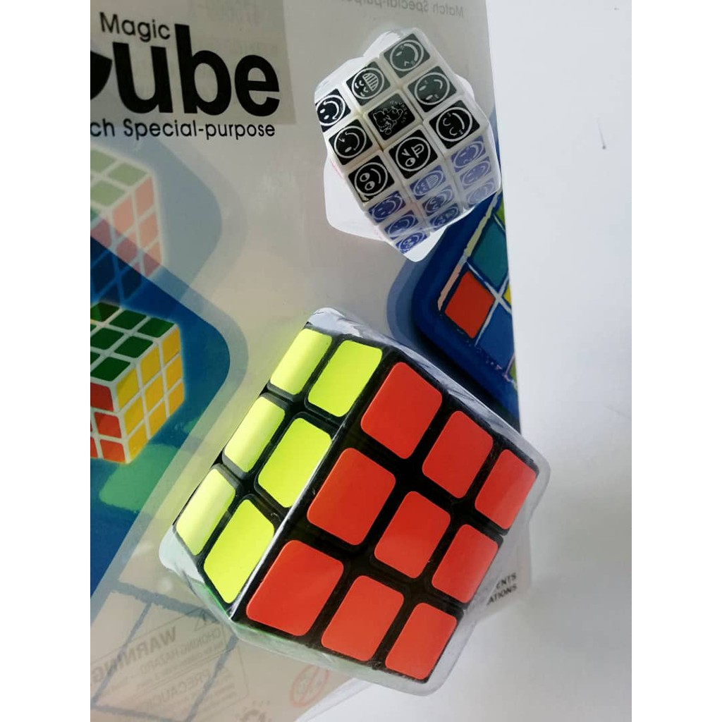 Summer Toys 2 in 1 3x3 Competition Cube Education Toys & Hobbies Rubik Magic Cube