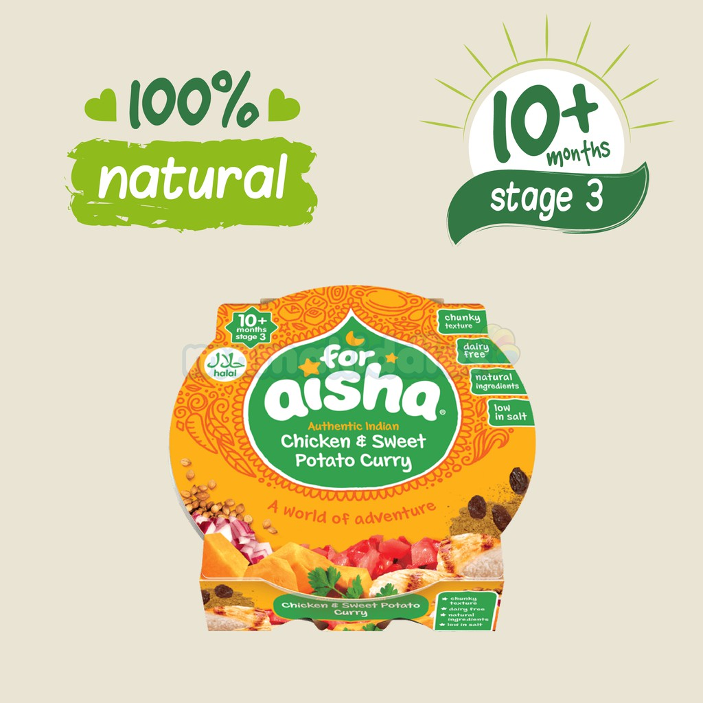 Imported Foraisha 10m Halal Organic Puree Baby Food 190g Tray Meal