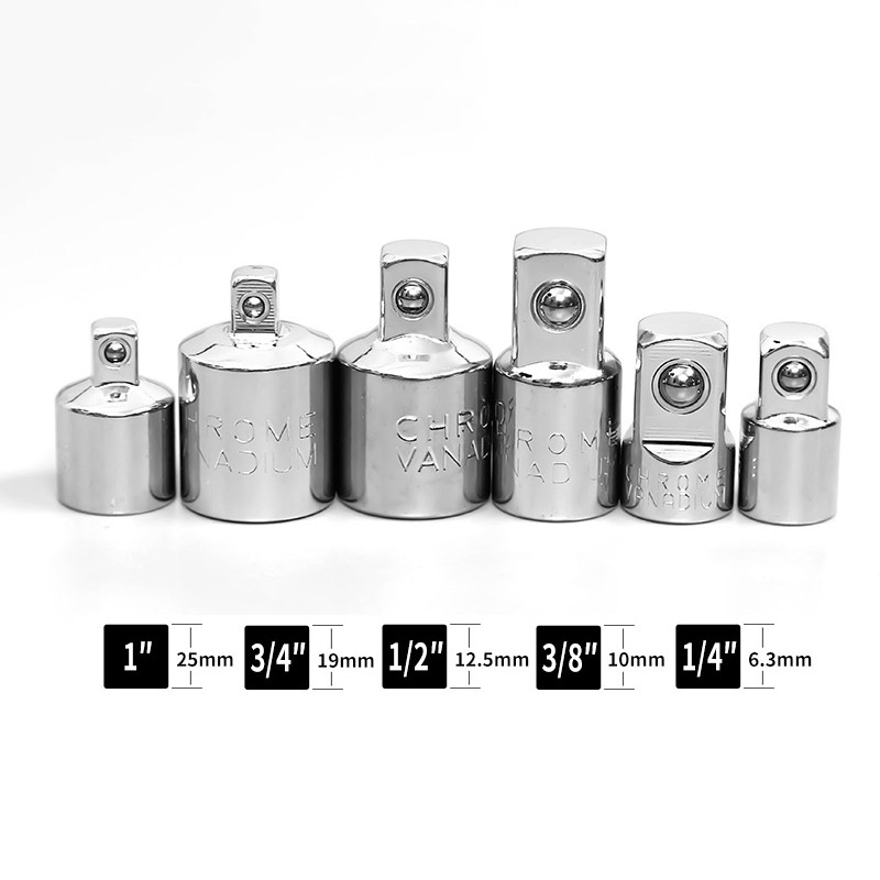 Female to Male Socket Adapter 1//2/'/' 1//4/'/' to 3//8/'/' Ratchet Drive Converter Tool
