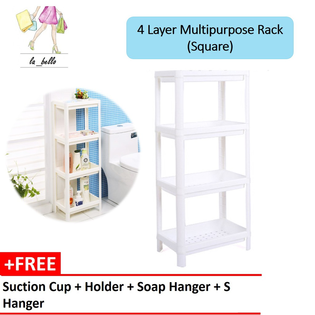 Home Improvement Bathroom Shelves Bathroom Shelf Adhesive Lightweight Multi-functional Organizer Storage Commodity Shelf Rack For Bathrooms Balcony Kitchen