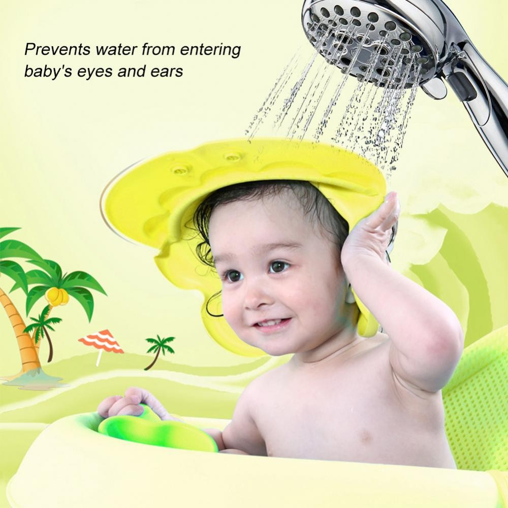 a054b8e55d0 Cute Cartoon Baby Shampooing Cap Kids Elastic Adjustable Shower Protection  Hat