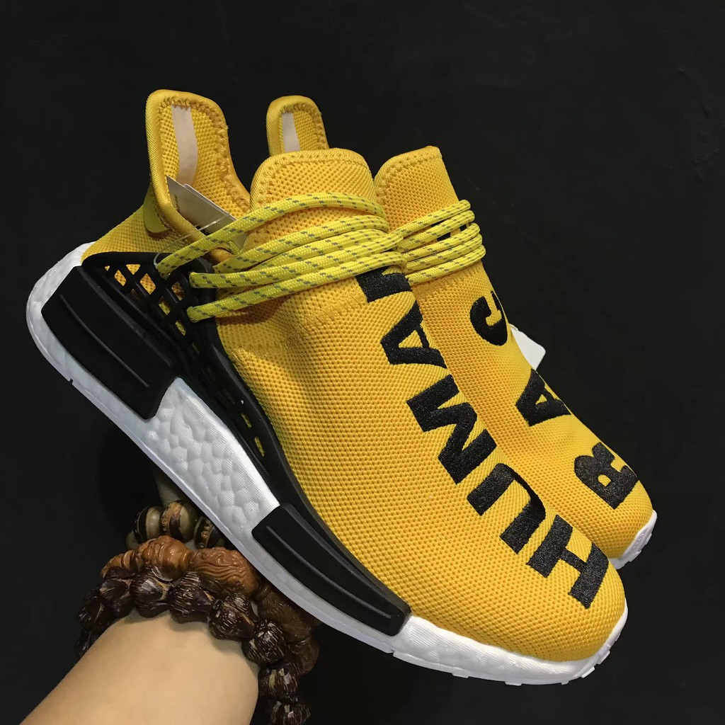 new styles 52a51 b5e0a original Pharrell x adidas nmd human racer ecooocx yellow color men sport  shoe