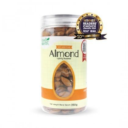 Love Earth Light Roasted Natural Almond 350g 乐儿天然浅烤巴旦木 350公克 (罐装)