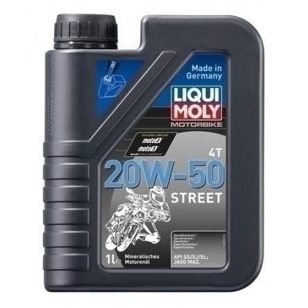 LIQUI MOLY Motorbike 4T 20W-50 STREET Engine Oil 1 Liter