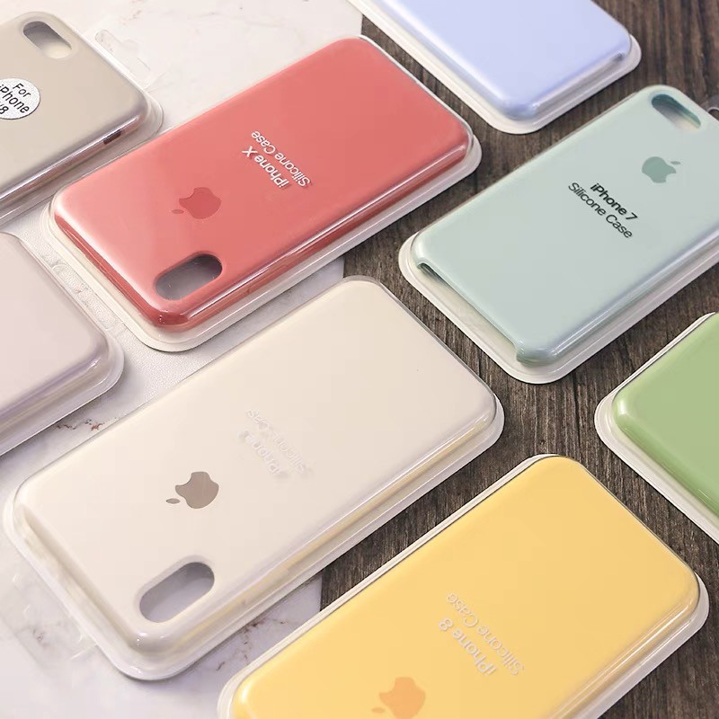 [56 Colors] iPhone XS MAX 5 6S 78 Plus iPhone XR Liquid Silicone Case  iPhone Cover iPhone 6 Case 7p casee 8p case xr cas