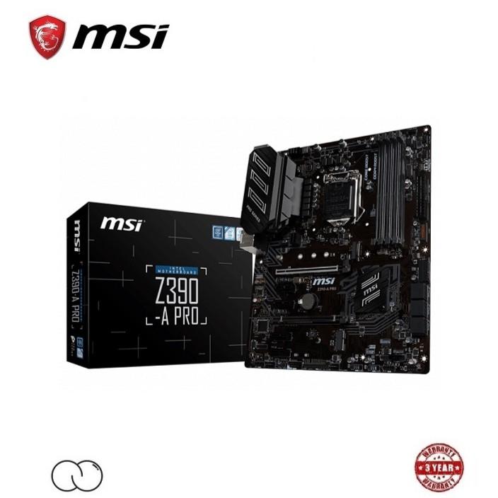MSI Intel Z390 ATX Motherboard / Z390-A PRO / Z390 A PRO Mobo / LGA 1151 Socket / Support Turbo M.2 / Turbo USB 3.1 Gen2