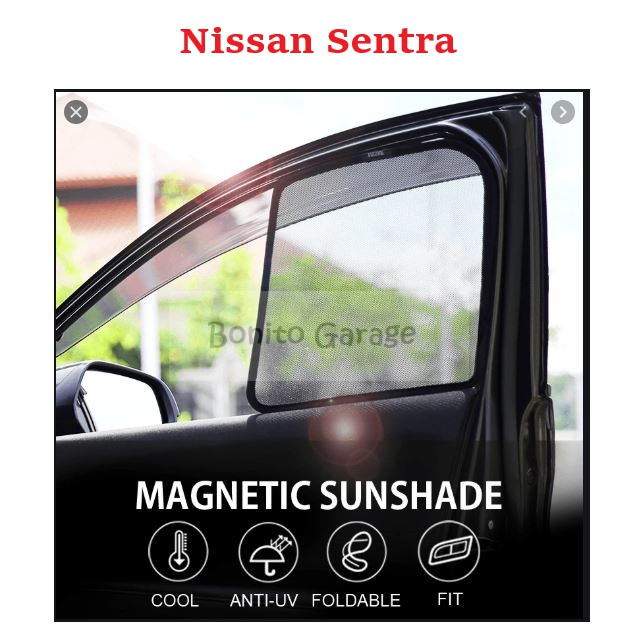 Magnetic Sunshade Nissan Sentra 4pcs