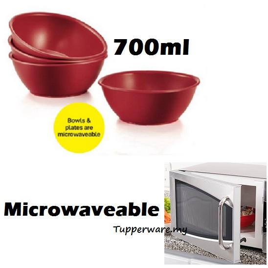 Tupperware Microwaveable Royal Red Bowls bowl 700ml
