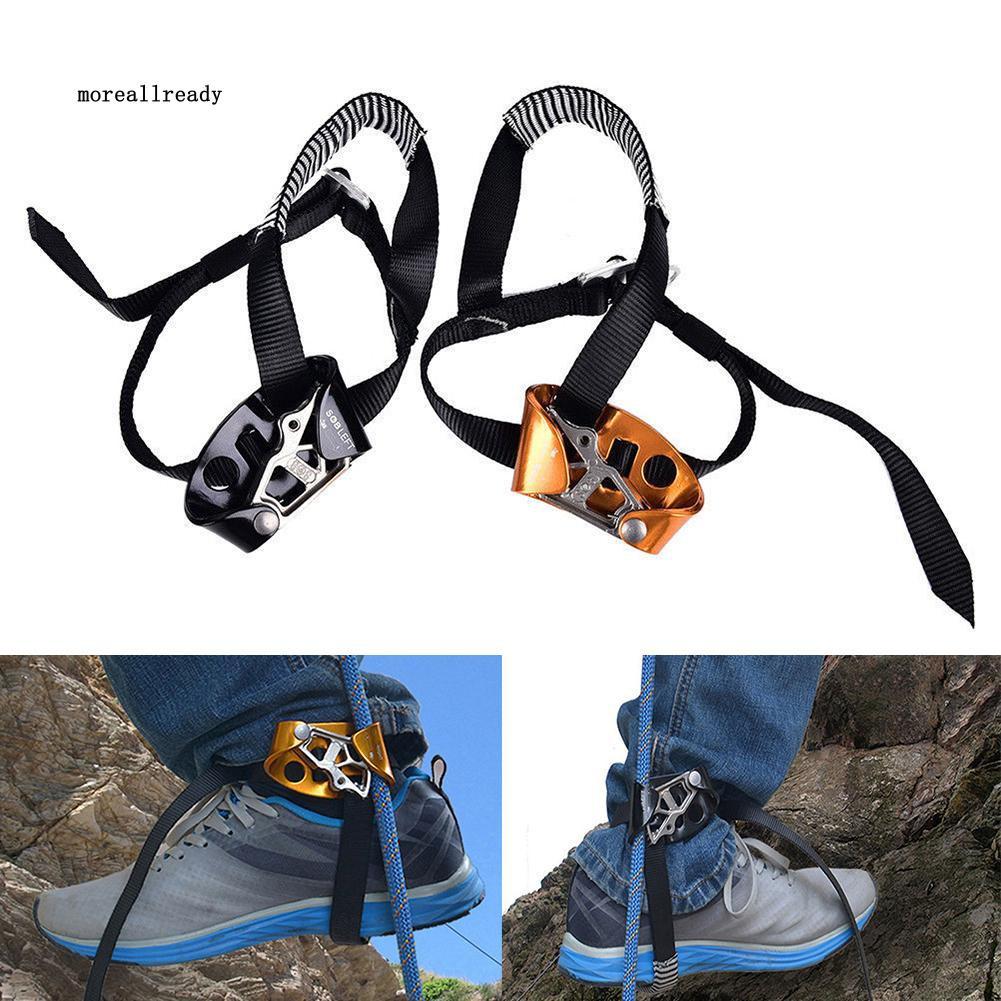 Foot Ascender Riser Aluminium Magnesium Alloy Left Or Right Foot Ascender Riser for Rock Climbing Mountaineering