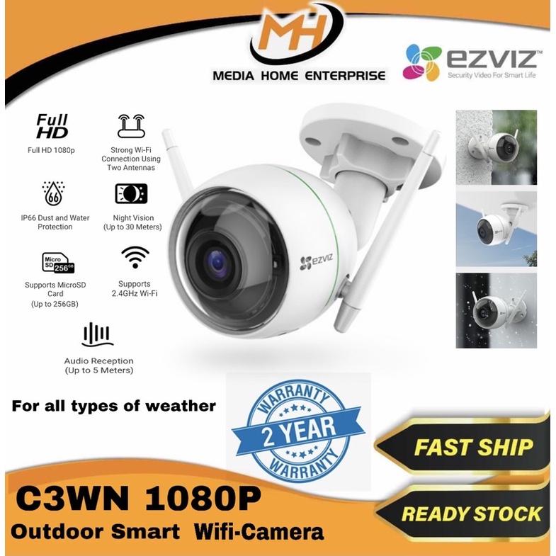 Ezviz C3WN Outdoor Smart Wi-Fi Camera - Strong Wireless Connectivity, Super Night Vision, Full HD 1080p