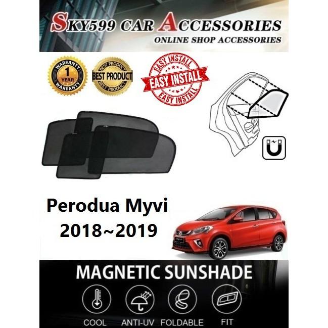 Perodua Myvi 2018-2019 Epic Magnetic Sunshade(4pcs)