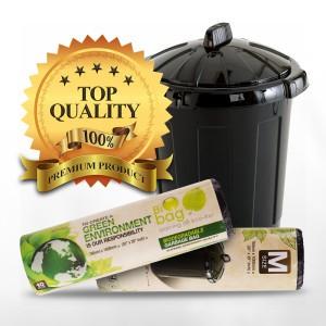 *Star Seal* Eco Biodegradable Heavy Duty Biodegradable Rubbish Bag Garbage Bag Plastic Sampah Beg Sampah Size S / M / XL