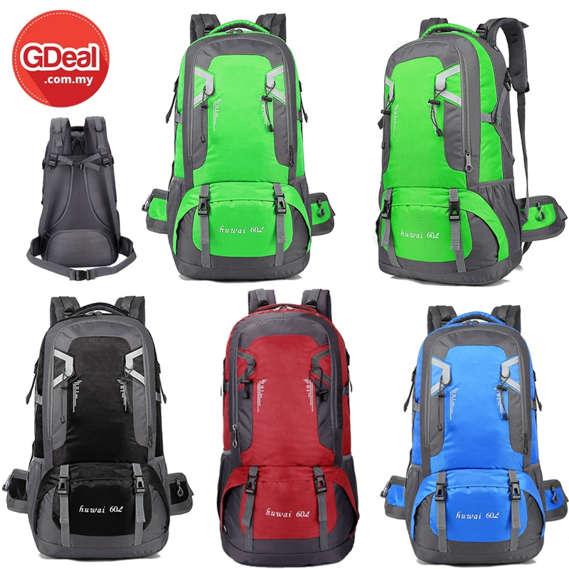 GDeal 60L Large Outdoor Backpack Travel Outdoor Camping Sports Bags Waterproof Oxford Cloth Backpack