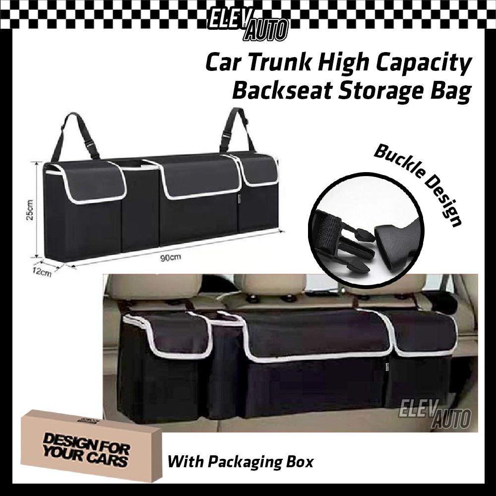 SUV Car Trunk Organizer Backseat Storage Bag Adjustable Pocket High Capacity Multi Use Car Seat Bag