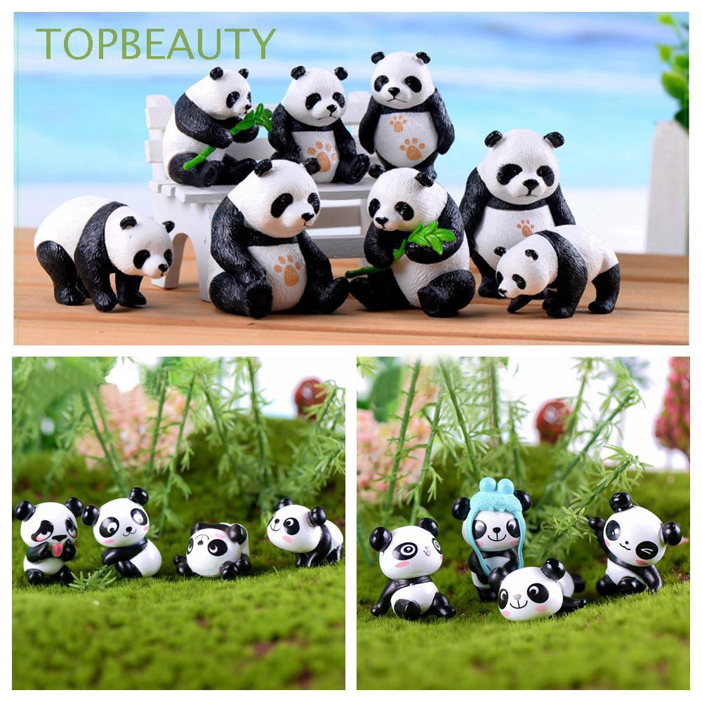 Resin Panda Ornament Animal Toy Moss Terrarium Plant Pot Bonsai Garden Decor