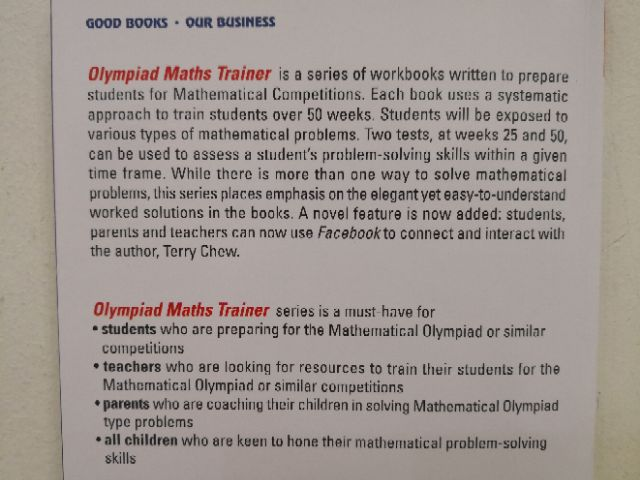 Olympiad Maths Trainer 5 & 6 by Terry Chew | Shopee Malaysia