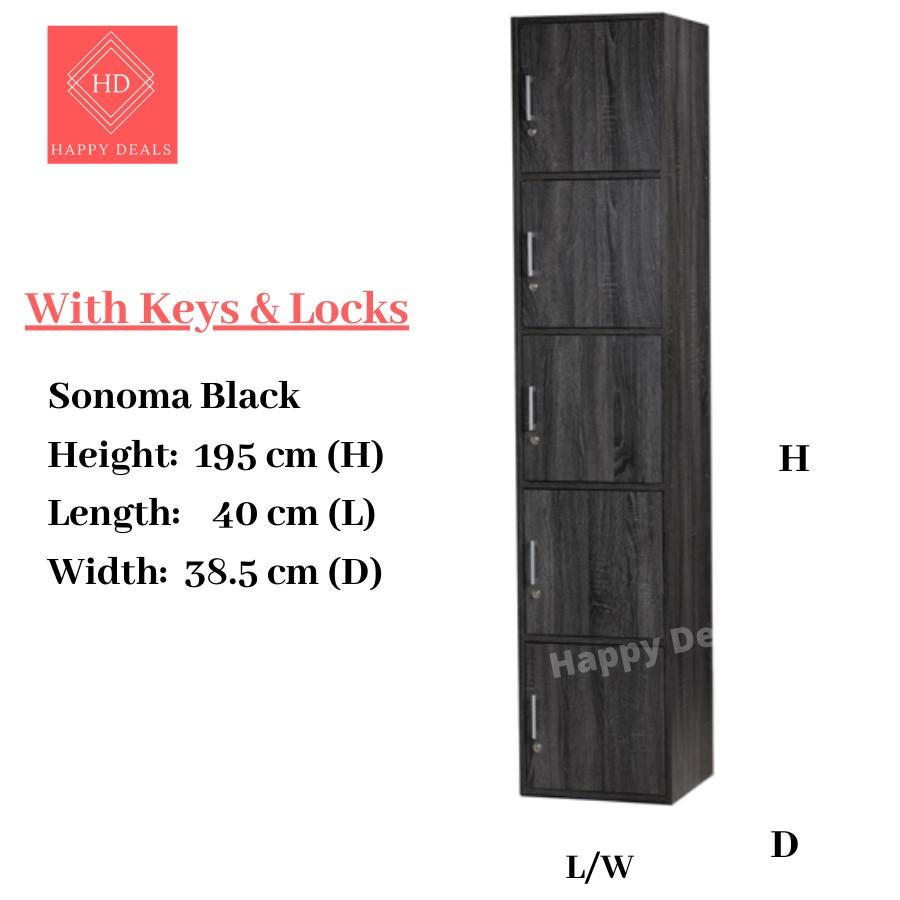 DIY 5 Tier Office Cabinet with Locks / Locker Storage Cabinet / Rak Buku Berkunci / Buku Cabinet Berkunci (SU 500 500FL)