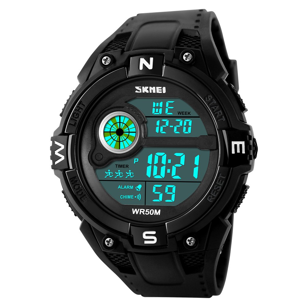 Orderly Skmei Outdoor Sports Compass Watches Hiking Men Watch Digital Led Electronic Watch Man Sports Watches Chronograph Men Clock Digital Watches Men's Watches