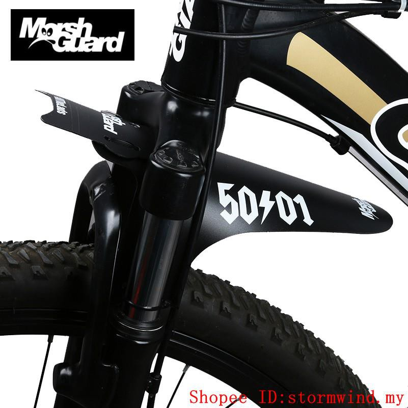 2X Balck MTB Bicycle Fender Mudguard Bike for Front Fork//Rear wheel AM DH FR XC