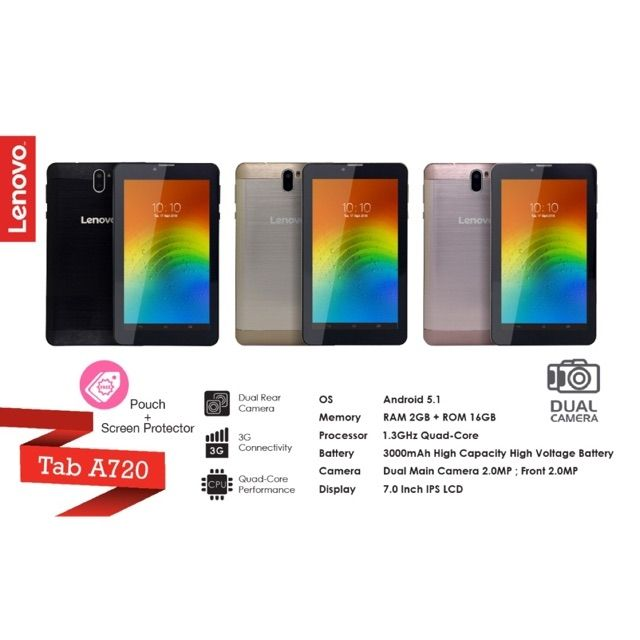 Free gift, Leather pouch, Screen protector , Spec:, 2gb Ram+16gb rom,  Battery 3000mah, 7 0 inch screen, 1 year warranty
