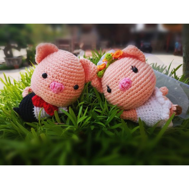 Handmade Knitting Amigurumi Wedding Couple Dolls Wedding Car Doll ... | 640x640