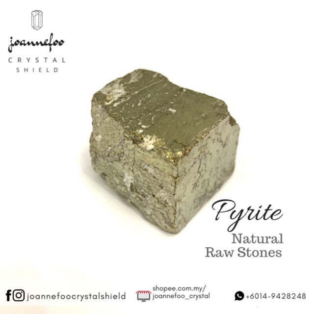 """Pyrite Crystal, """"Fool's Gold"""" - A crystal that attracts abundance &  prosperity"""