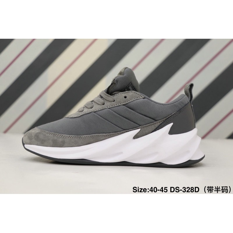buy online 3a9e2 95308 ★ready stock!★ Fast delivery NEW ADIDAS TUBULAR SHADOW KNIT Big Shark  Casual Jogging Shoes Grey