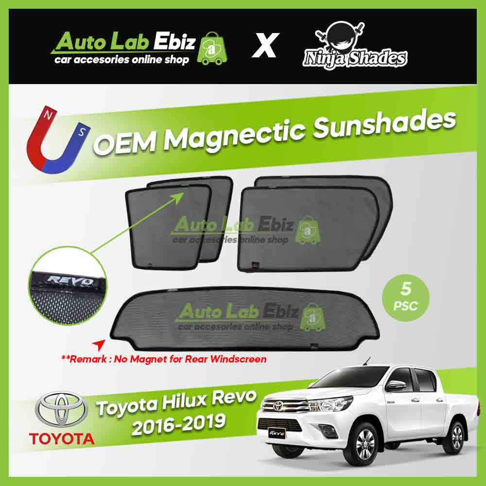 Toyota Hilux Revo 2016-2019 Ninja Shades OEM Magnetic Sunshade (5pcs)