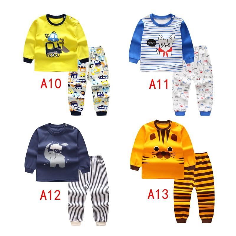 c0be157009f52 2pcs Long Sleeve sleepwear Baby boys Clothing Cartoon Printed Clothing suits