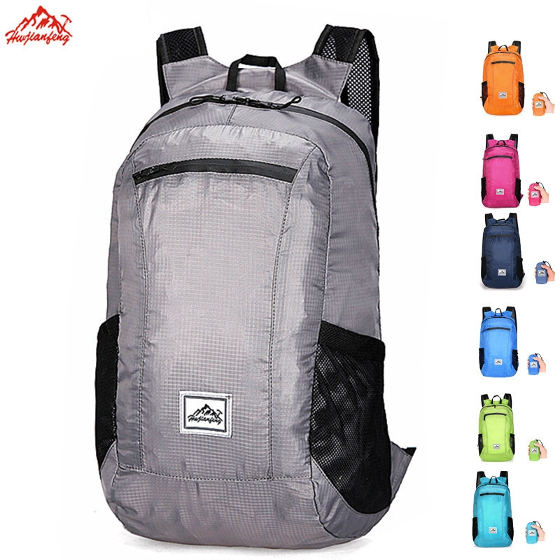 Outdoor sports bag backpack lightweight folding portable waterproof package incorporating