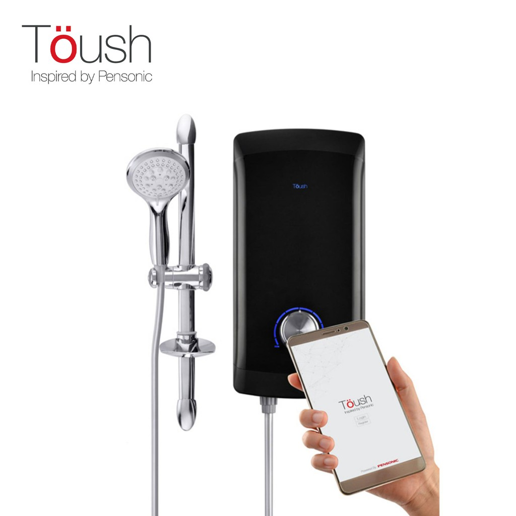 TOUSH Smart Silent Pump Water Heater C/W Smartphone App, Monitors Water Quality, etc | T1100SWH-SP