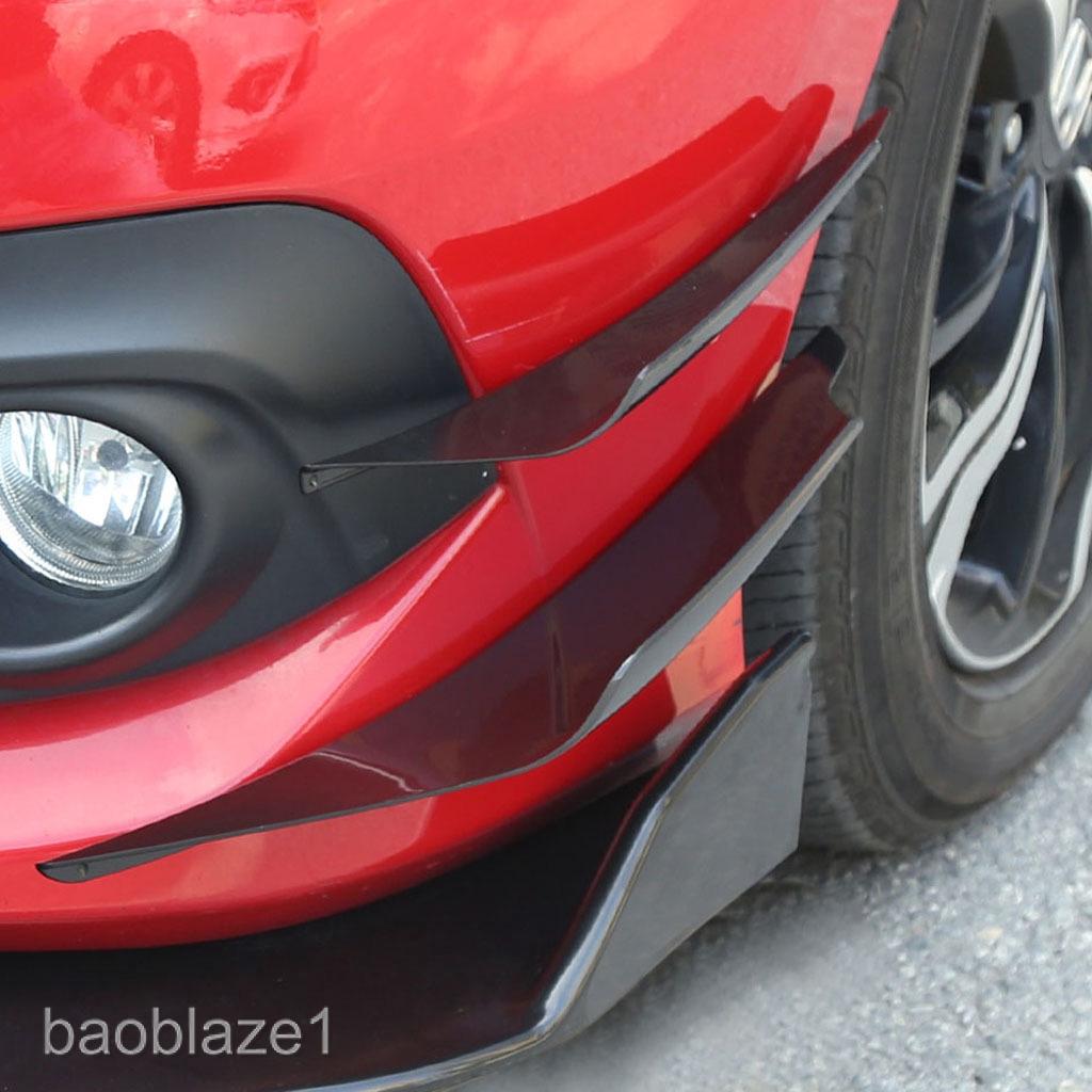 2 x Carbon Fiber Front Bumper Splitter Fins Canards 2 Pcs Car Bumper Splitters