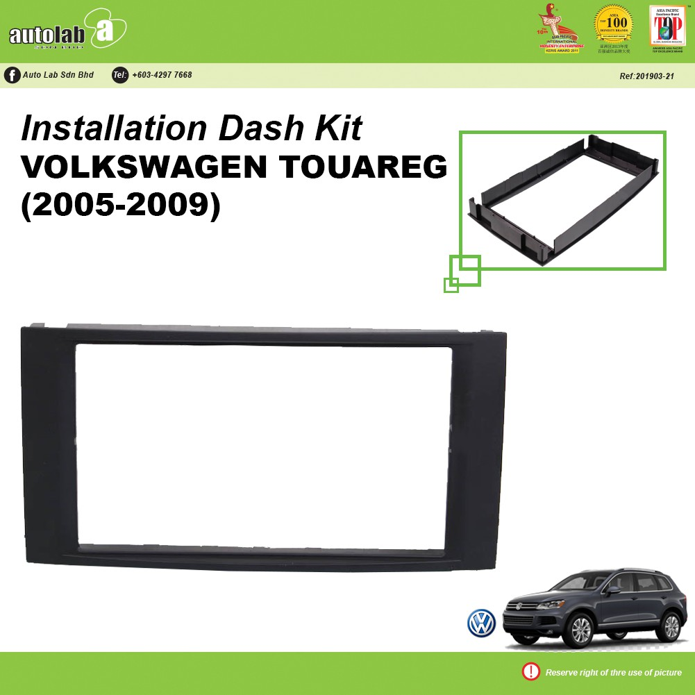 Player Casing Double Din Volkswagen Touareg (2005-2009)