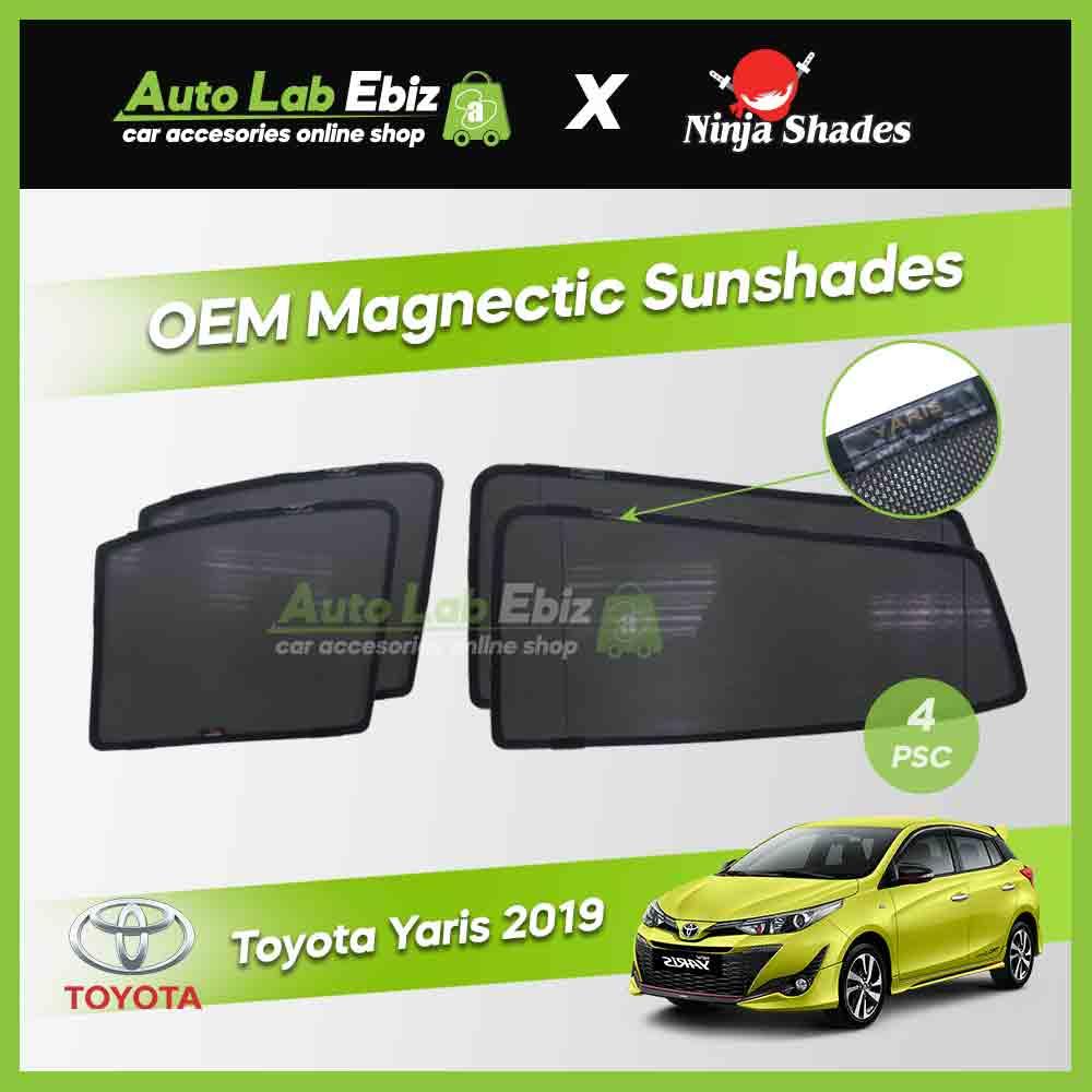 Toyota Yaris 2019 Ninja Shades OEM Magnetic Sunshade (4 pcs)