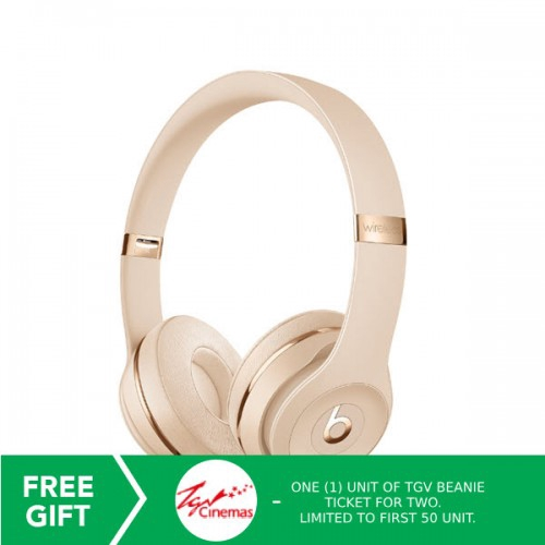 Beats Solo3 Wireless On Ear Headphones Satin Gold Bts Muh42pa A Shopee Malaysia