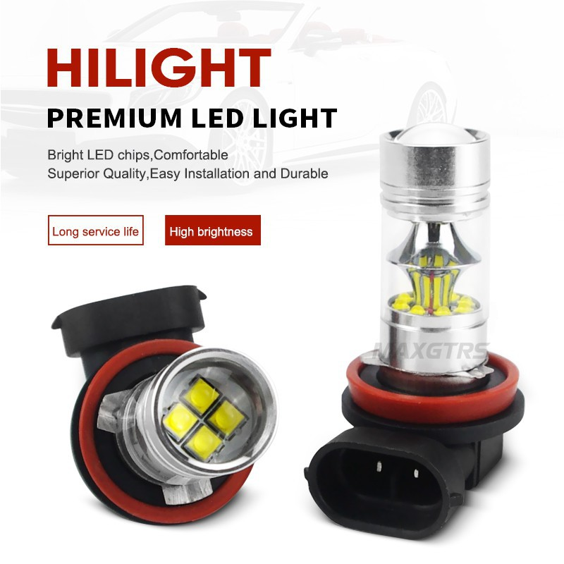 Pair H11 H8 with CREE chip XB-D LED Projector Low Beam Headlight 100W For HONDA